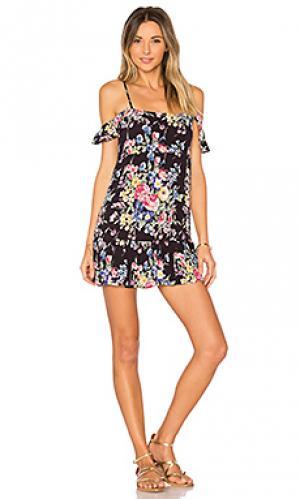 Beach house strappy mini dress AUGUSTE. Цвет: черный