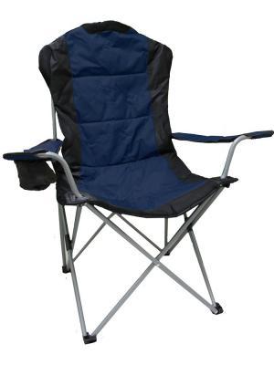 Кресло туристическое складное 60х66х50/95см (СТАЛЬ) GreenGlade. Цвет: черный, синий