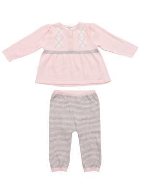 Кофта и штанишки Angel Dear. Цвет: розовый, серый