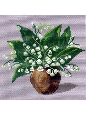 Набор для вышивания Ландыш Матренин Посад. Цвет: сиреневый, белый, зеленый