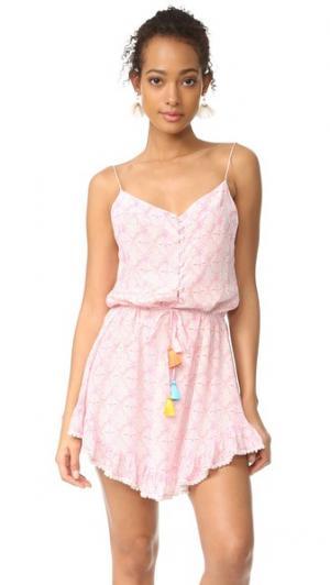 Платье с короткими Мандрем и ремешком Athena Procopiou. Цвет: розовый