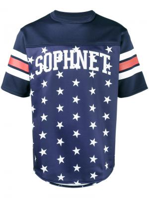 Футболка с принтом звезд Sophnet.. Цвет: синий