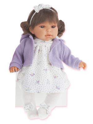Кукла Лорена, озвученная, 37 см. Antonio Juan. Цвет: фиолетовый, молочный