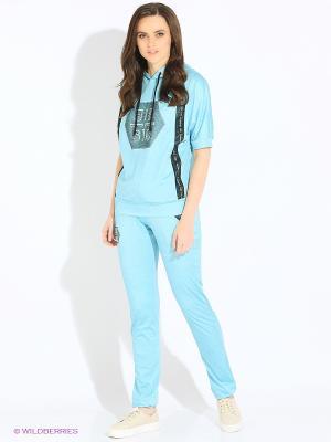 Спортивный костюм EZE. Цвет: бирюзовый