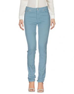 Повседневные брюки ACNE STUDIOS. Цвет: пастельно-синий