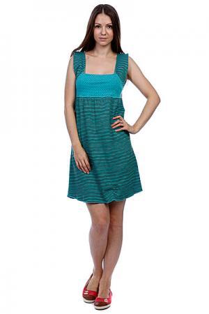 Платье женское  Mix It Up Dress Teal Ezekiel. Цвет: зеленый