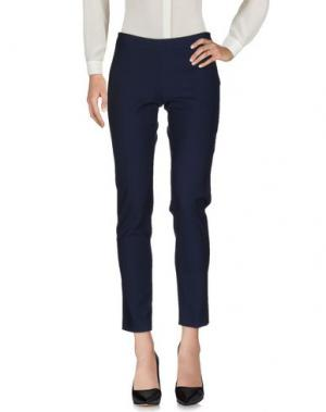 Повседневные брюки CAMICETTASNOB. Цвет: темно-синий