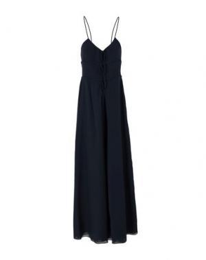 Длинное платье MOSCHINO CHEAP AND CHIC. Цвет: темно-синий