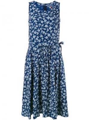 Платье с цветочным узором Blue Japan. Цвет: синий