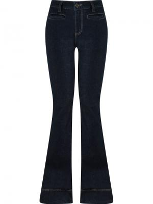 High waisted flared jeans Giuliana Romanno. Цвет: синий