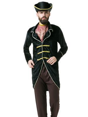 Костюм пирата, мореплавателя, капитана судна La Mascarade. Цвет: черный, желтый, коричневый