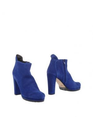 Полусапоги и высокие ботинки PETER FLOWERS. Цвет: синий