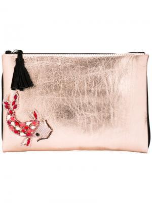 Декорированный клатч Lisa C Bijoux. Цвет: розовый и фиолетовый