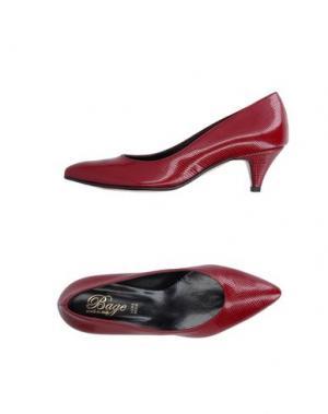 Туфли BAGE. Цвет: красно-коричневый