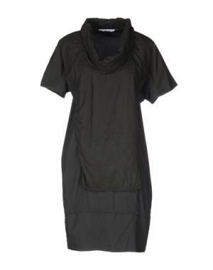 Платье до колена OBLIQUE CREATIONS. Цвет: свинцово-серый