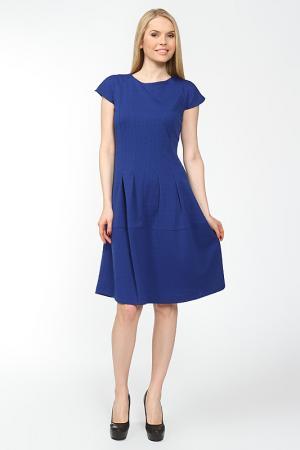 Платье с потайной молнией на спине Arrangee. Цвет: васильковый