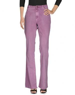 Джинсовые брюки ANGELO MARANI. Цвет: светло-фиолетовый