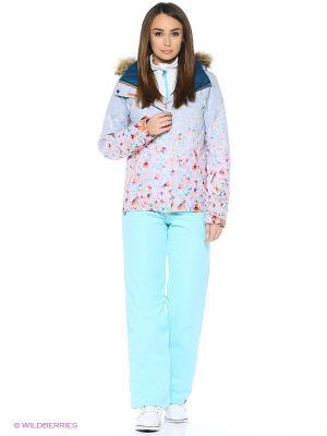 Куртка ROXY. Цвет: голубой, розовый