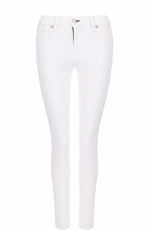 Однотонные джинсы-скинни Rag&Bone. Цвет: белый