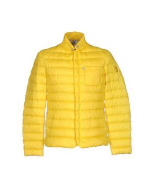 Пуховик GEOSPIRIT. Цвет: желтый