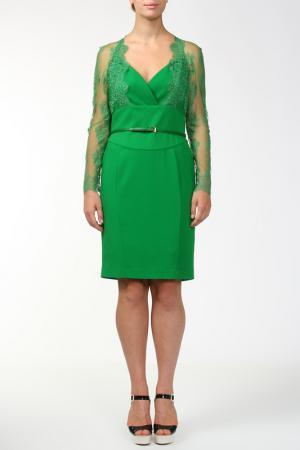 Платье, пояс Elie Saab. Цвет: зеленый