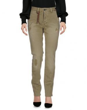 Повседневные брюки JFOUR. Цвет: зеленый-милитари