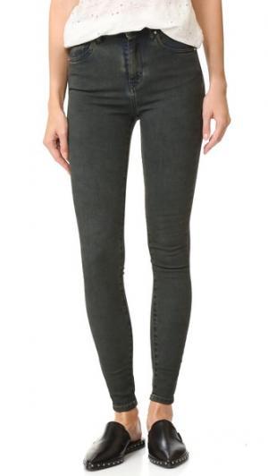 Укороченные джинсы Elle со средней посадкой IRO.JEANS. Цвет: темно-серый