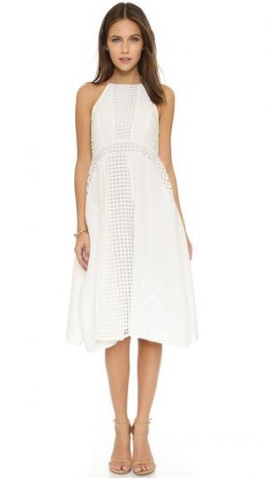 Расклешенное миди-платье Fantasy Talulah. Цвет: белый