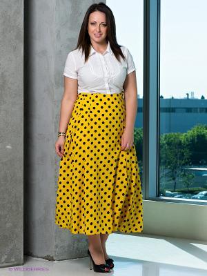 Юбка Klimini. Цвет: желтый, черный
