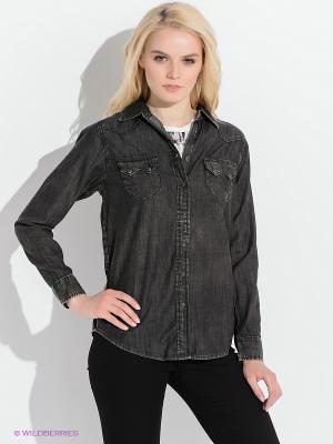 Рубашка LEE. Цвет: темно-коричневый