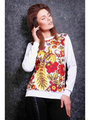 Свитшот Fashion Up. Цвет: белый, золотистый, коричневый