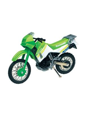 Мото HONDA XR400R 1:18 AUTOTIME. Цвет: серебристый, белый, зеленый, черный