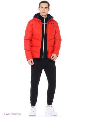 Куртка ESS Hooded Down Jacket Puma. Цвет: красный
