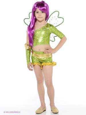 Карнавальный костюм Рокси Батик. Цвет: зеленый