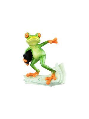 Фигурка декоративная Лягушка - бизнесмен Elan Gallery. Цвет: зеленый