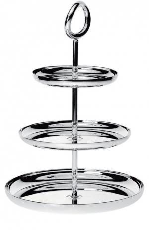 Этажерка тройная для конфет Vertigo Christofle. Цвет: бесцветный