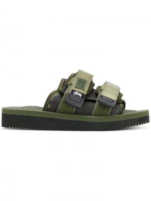 Moto Stu sandals Suicoke. Цвет: зелёный