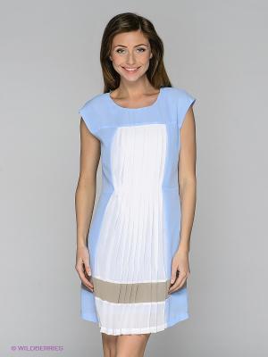 Платье Viaggio. Цвет: голубой, белый