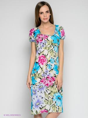 Платье L.A.S. Цвет: лазурный, зеленый, сиреневый