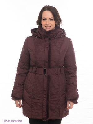 Пальто La Reine Blanche. Цвет: бордовый