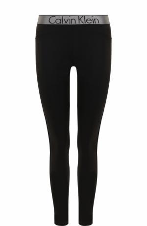 Однотонные леггинсы с контрастными лампасами Calvin Klein Underwear. Цвет: черный