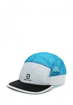 Бейсболка Salomon. Цвет: голубой
