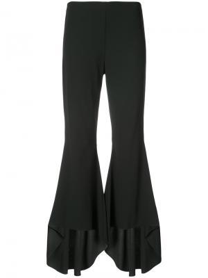 Расклешенные брюки с оборками Alice+Olivia. Цвет: чёрный