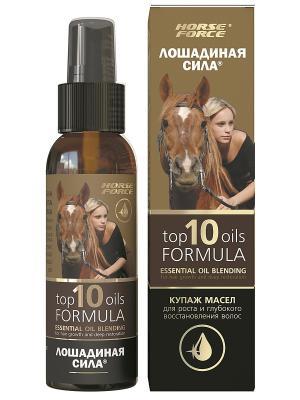 Купаж масел для роста и глубокого восстановления волос Лошадиная сила. Цвет: коричневый
