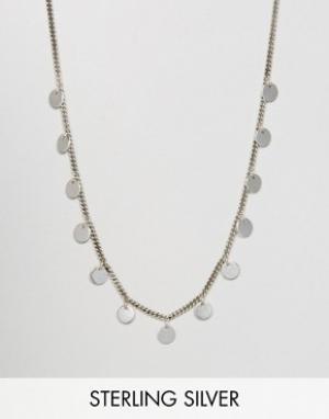 Fashionology Серебряное ожерелье с дисками. Цвет: серебряный