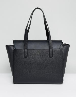 Pauls Boutique Черная структурированная сумка-тоут. Цвет: черный