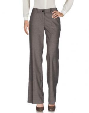 Повседневные брюки VENTI CENTO VENTUNO. Цвет: темно-коричневый