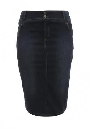 Юбка джинсовая Fiorella Rubino. Цвет: синий