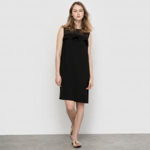 Платье с верхом из вуали MADEMOISELLE R. Цвет: телесный,черный