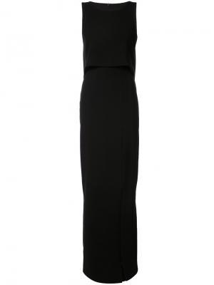 Вечернее платье прямого кроя Black Halo. Цвет: чёрный
